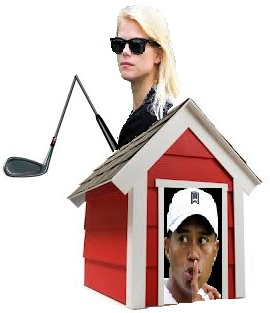 Dog House w Tiger Woods and wife and club